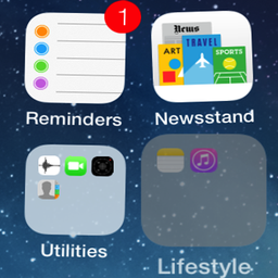IPhone Style Folder